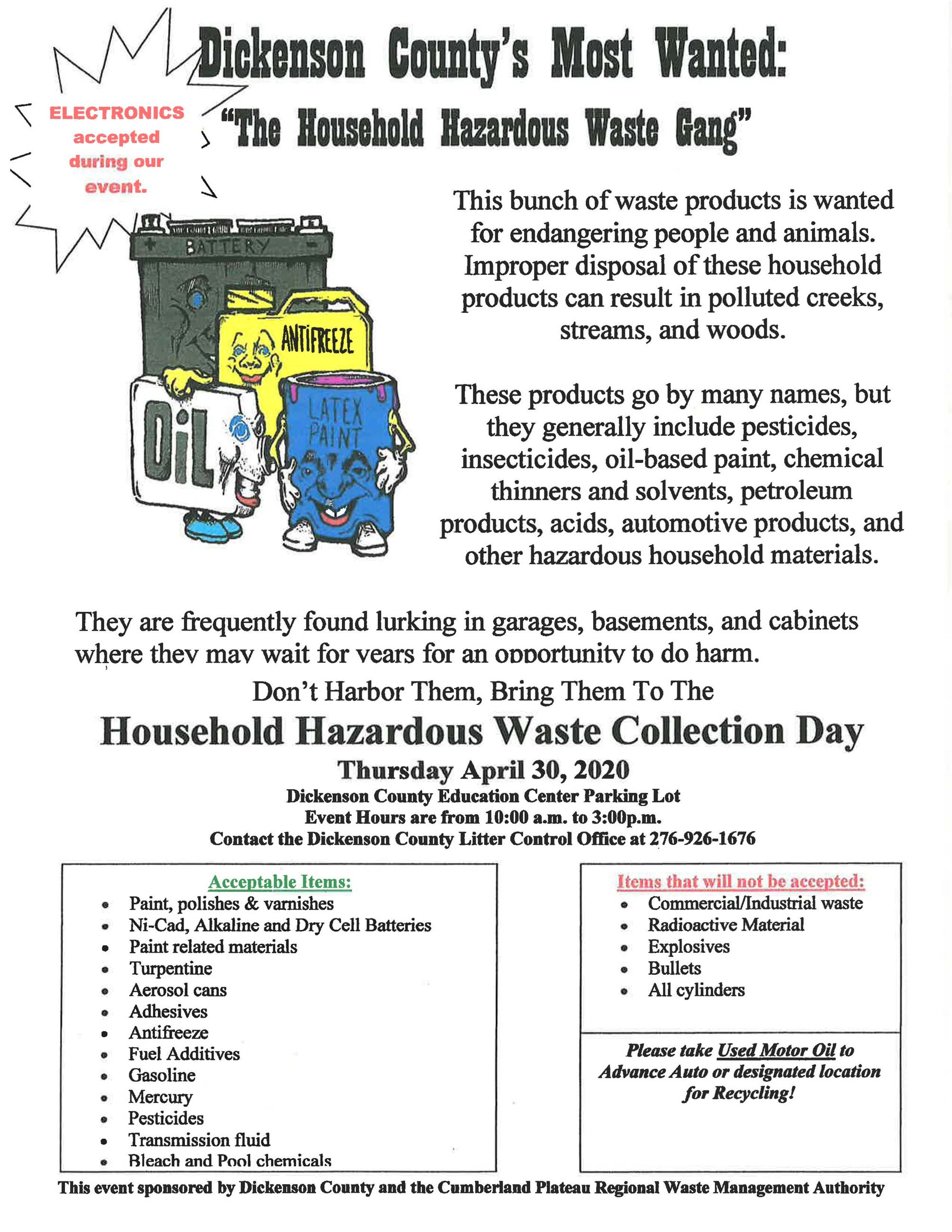 Household Hazard Waste Collection Day