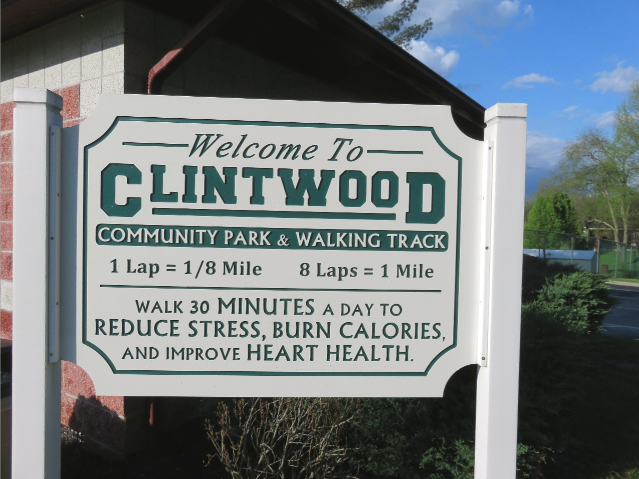 Clintwood Walking Track Sign