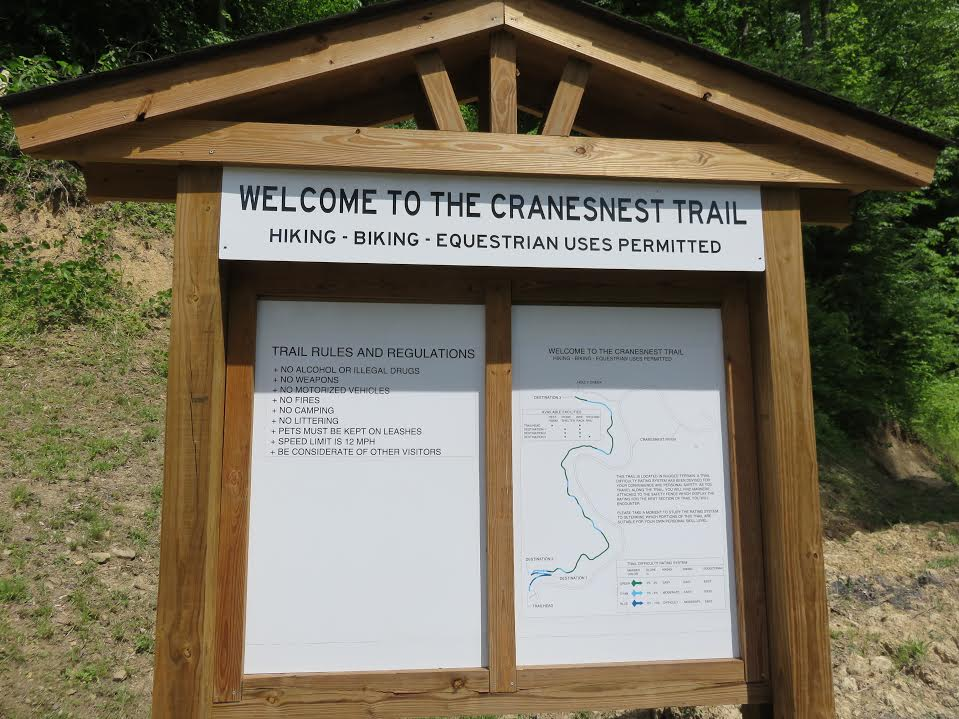 Cranesnest Trail Sign